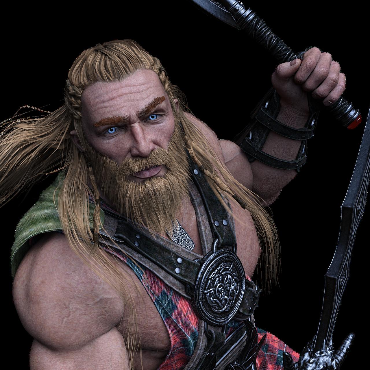 character, viking, warrior
